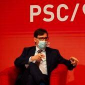 Salvador Illa, candidato del PSC a la Generalitat de Cataluña.