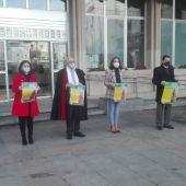 La AECC ha leído un manifiesto con la presencia de representantes del Ayuntamiento