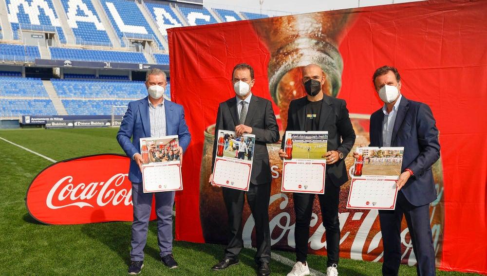 Coca-Cola y el Málaga CF rinden tributo a sus aficionados en el Calendario de 2021