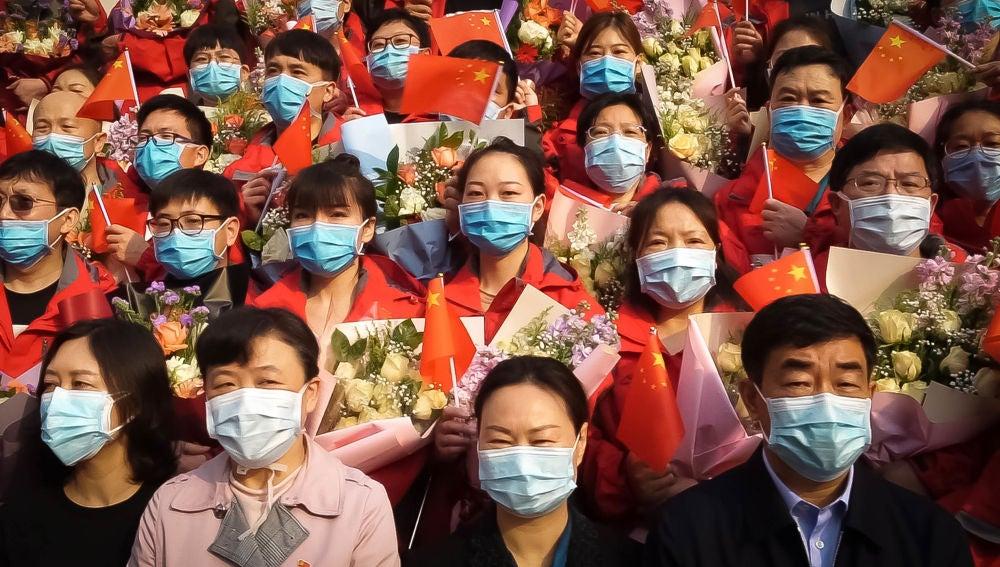 Fotograma del documental 'In the same breath', de Nunfa Yang, sobre el desarrollo de la pandemia en China