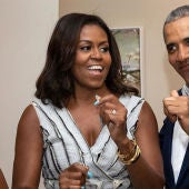 Michelle Obama, exprimera dama de Estados Unidos, y Barack Obama, expresidente, en una imagen de archivo