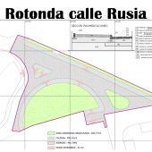 Proyecto de la rotonda de la calle Rusia