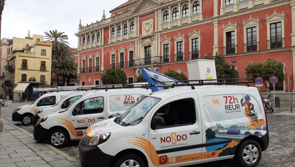 Nueva flota de vehículos eléctricos del servicio 072