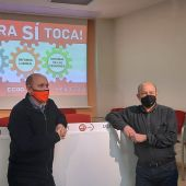 Manuel Pina y Daniel Alastuey en la rueda de prensa