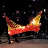 Imagen de las manifestaciones contra la encarcelación de Pablo Hasél en Lleida