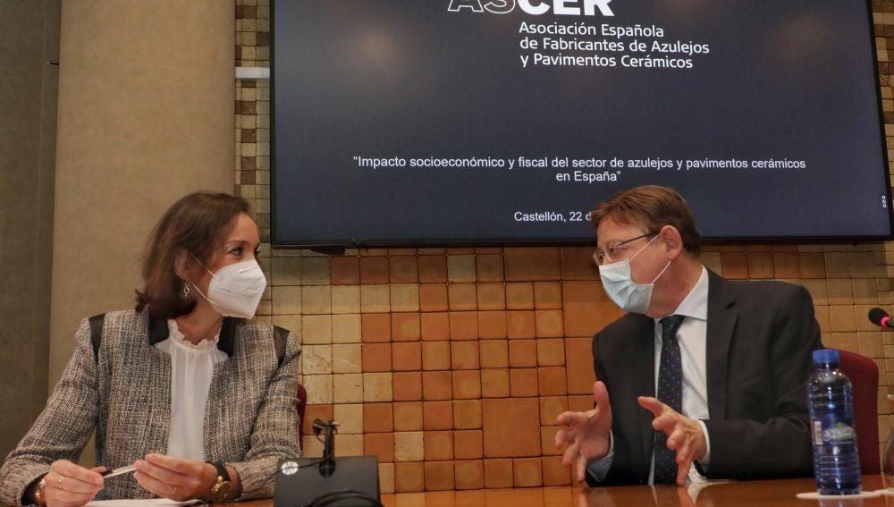 Ximo Puig y la ministra Reyes Maroto