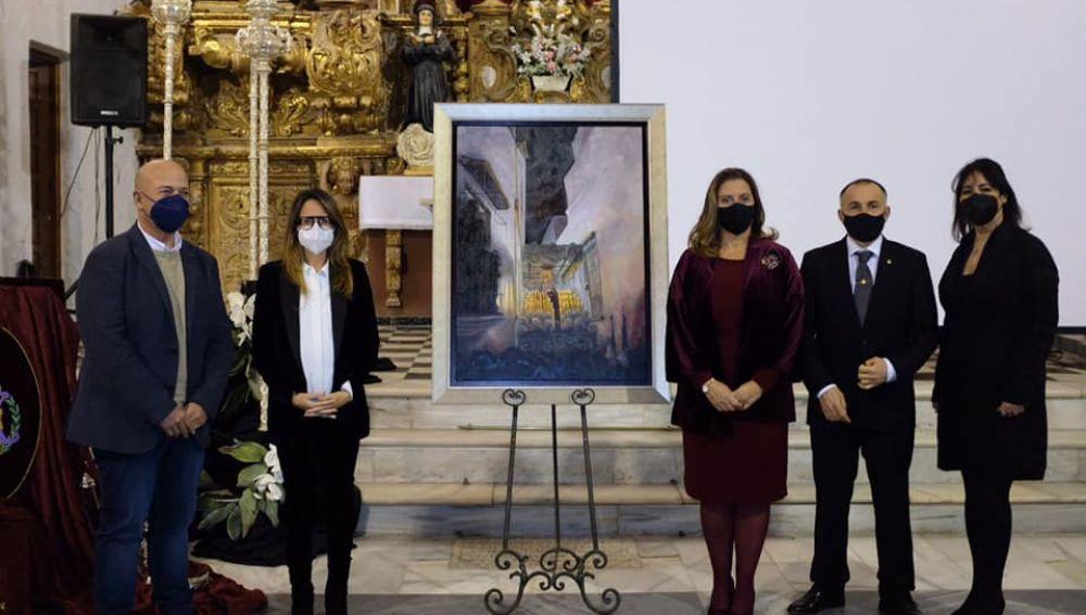 Presentación cartel de la semana santa de Ayamonte, obra del pintor Emilio Borrego
