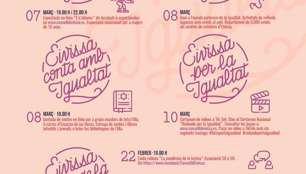 El Consell de Ibiza contará con concursos, charlas y mesas redondas para conmemorar el 8M