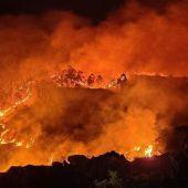 Incendio en los montes de Cantabria