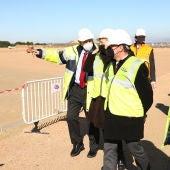 El presidente Lambán ha visitado las obras de ampliación de PLAZA