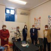 Un momento de la visita de la consellera Ana Barceló a la Fundación Salud Infantil