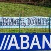 Pancarta Riazor Blues en Abegondo