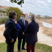 Puig visita las obras que se acometen en el puerto de Alicante