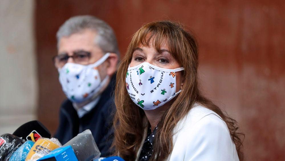 La consejera de Sanidad del Gobierno de Aragón, Sira Repollés, durante una rueda de prensa.