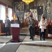 Aurelia Sánchez durante su intervención en el palacio de la Diputación de Ciudad Real