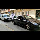 Los autónomos se han manifestado en vehículos