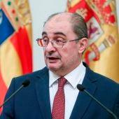 El presidente de Aragón, el socialista Javier Lambán.