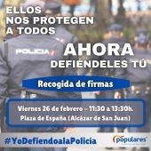 Campaña apoyo a policía