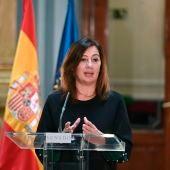 La presidenta de Baleares, Francina Armengol , en rueda de prensa.