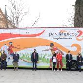 Autobús Comité Paralímpico Español en Alcalá de Henares