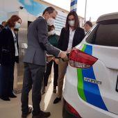 Pedro Duque durante su visita al Centro Nacional del Hidrógeno