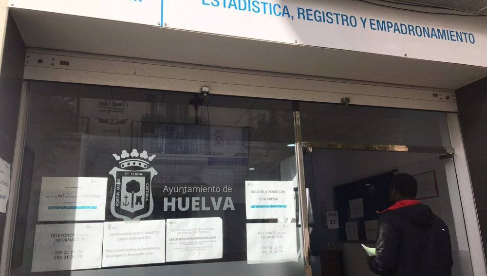 Registro de empadronamiento del Ayuntamiento de Huelva