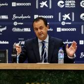 José María Muñoz en un momento de la rueda de prensa