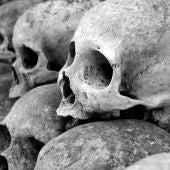 Cráneos de personas muertas