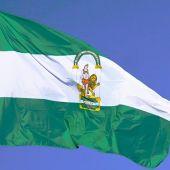 Imagen de archivo de la bandera de la comunidad autónoma andaluza