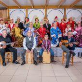 Miembros de la Comunidad Andaluza de Elche en su sede de la Casa de Andalucía