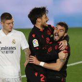 Portu celebra su gol en presencia de Toni Kroos