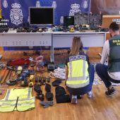 Guardia Civil y Policía Nacional detienen a seis personas y esclarecen 131 delitos de robo
