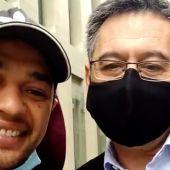 Mohamed con Bartomeu