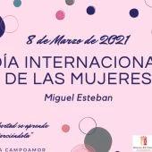 Miguel Esteban celebrará el Día de la Mujer con lectura de manifiesto y varios talleres online