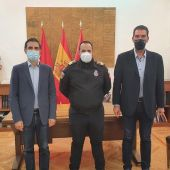 Concesión de la Medalla al Mérito de la Protección Civil a David Arriaga, jefe de Protección Civil Alcalá