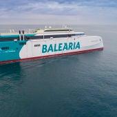 Ferry de Baleària en pruebas en Gijón