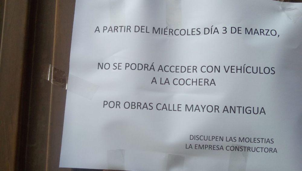 Malestar de los vecinos de San Pablo Santa Marina por el cierre de cocheras por obras