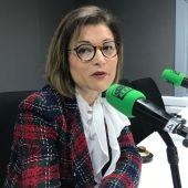 Berta Sáez en una entrevista en los estudios de Onda Cero en febrero de 2020