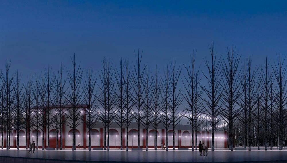 Así será el entorno  futurista de la Plaza de Toros de Alcázar