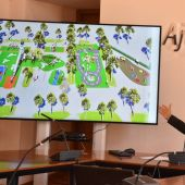 Presentación de la nueva área de juegos infantiles del Parque Municipal de Elche.