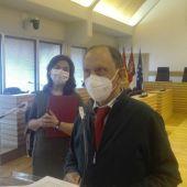 Nicolás Clavero y Pilar Zamora durante la rueda de prensa
