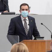 El portavoz de Vox en la Asamblea Regional de Murcia Jaun José Liarte