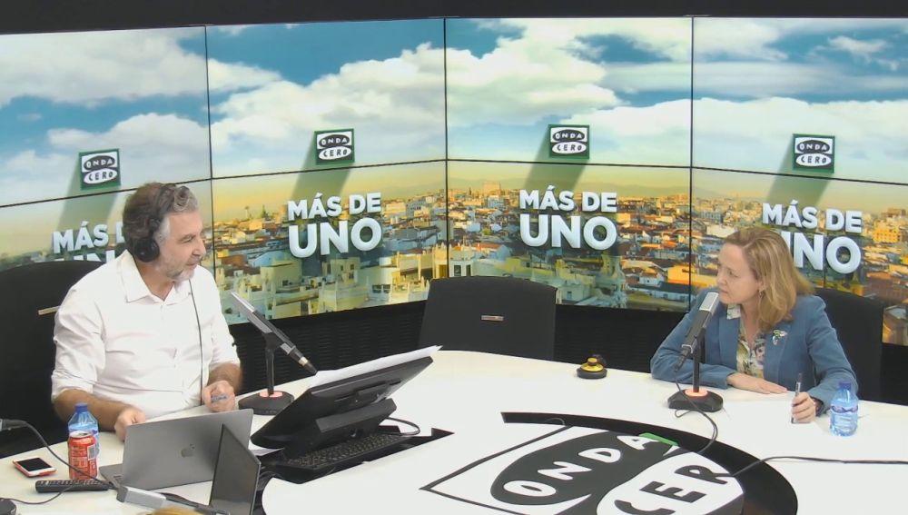 Nadia Calviño en Más de uno