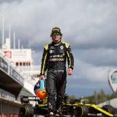 Fernando Alonso en el primer test de la temporada con Alpine