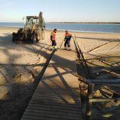 Inicio del trabajo en las playas de Sanlúcar