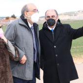 El presidente Lambán ha visitado Calamocha este jueves
