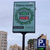 El Ayuntamiento de Palma estrena un contador de árboles en la Plaza de España