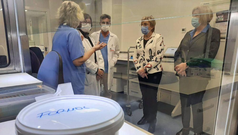 Visita de la consellera de Sanidad al Hospital General de Elda.