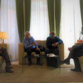 Reunión entre Caballero y el presidente de la Coordinadora de ONGD de C-LM