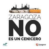 Imagen del cartel que sensibilizará contra el hábito de tirar la colilla al suelo
